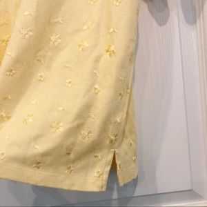 Vintage Tops - Yellow embroidered top
